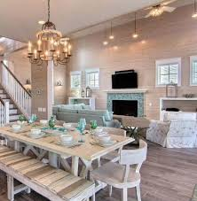 Elegant Reclaimed Dining Table OBA Project Beach Style Room Of Beachy Sets