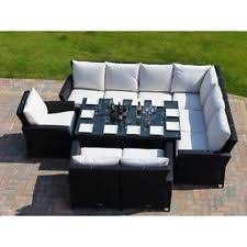 garden dining furniture rattan. 9 seater rattan garden furniture sofa dining table set 4pc wicker outdoor garden dining furniture rattan