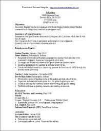 Functional Resume Template Musiccityspiritsandcocktail Com