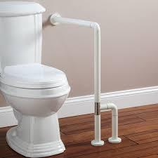 Marion Wall To Floor Grab Bar Off White Bathroom