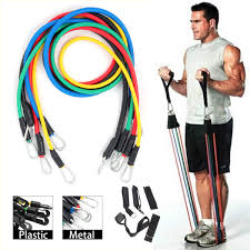 KALOAD <b>11PCS</b>/<b>SET</b> Fitness <b>Resistance Bands</b> Sport Gym <b>Yoga</b> ...