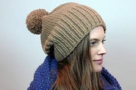 Knit Beanie Pattern Adorable Knitting Pattern A Stylish And Slouchy Pompom Beanie Canadian Living