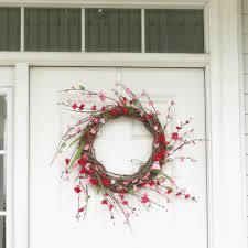 front door wreathDIY Front Door Wreath In 3 Quick Steps and 10 Minutes  At Home