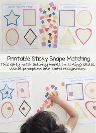 Shape identification preschool shapes worksheets for kindergarten. Preschool Shape Matching Activity