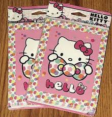 Hello Kitty Party Invitation New 2 Packs Hello Kitty Party Invitations Thank You Cards