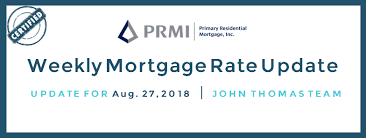 Mortgage Quote Mesmerizing Mortgage Rates Weekly Update [August 48 48] PRMI Delaware