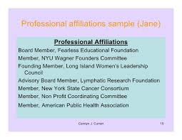 Resume workshop for Professional affiliations for resume examples .