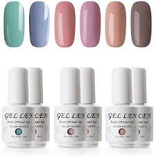 Gellen Colorful Pastel Series Gel Nail Polish Set Uv Led Nail Home Gel Manicure