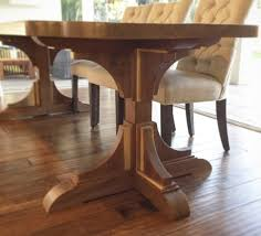 angela s stunning walnut wood trestle table
