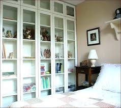 s bookcase with glass doors ikea white