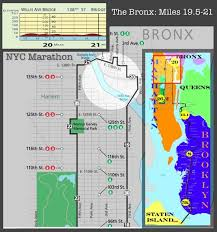 Nyc Marathon Elevation Chart Nyc Marathon Course Elevation Map Of The Bronx Nycm Ny