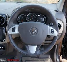 renault lodgy official review team bhp only buttons you ll on the steering are those for cruise control the only other mpv this feature is the tata aria