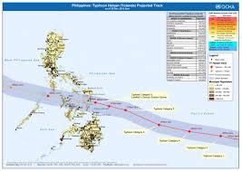 Typhoon Tracking Chart Philippines Typhoon Haiyan Yolanda Projected Track As Of