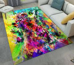 hip hop style graffiti art living room carpet floor mat modern home area rugs