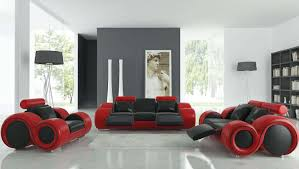 comfortable leather couches. Living Room : Ultra Modern Black Red Laminated Comfortable Leather Sofa Decor With White Ceramic Floor And Drum Shape Standing Lamp Couches O