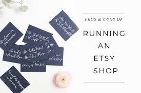 pros and cons of running an etsy