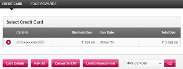 how to check axis bank credit card