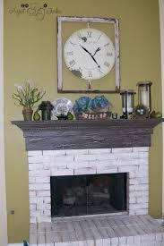 le paint fireplace mantel