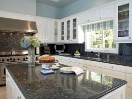 Dark Granite Kitchen Countertops Kitchens White Cabinets Dark Granite Popular White Kitchen