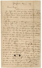 Abraham Lincoln S Letter To Mary Owens Breaking Off An Engagement