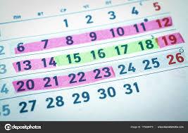 Calendrier Jours Planification Dangereux Et Sans Danger De