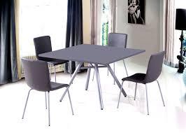 Chaise Cuisine Cuir Gris Table Et Chaises De Contemporaine Table Et