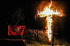 Image result for burning cross