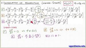 applying the navier stokes equations part 2 lecture 4 7 chemical engineering fluid mechanics you