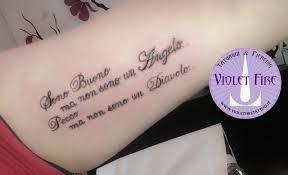 Tatuaggio Scritta Violet Fire Tattoo Tatuaggi Maranello
