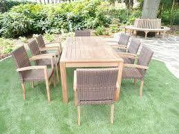 garden table set home outdoor decoration brown 10 seater rattan