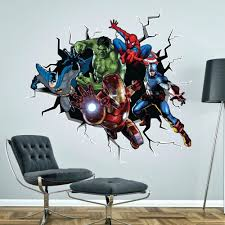 favorite marvel heroes wall decals gutesleben within superhero wall art stickers gallery 7 of