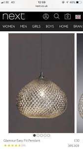 next glamour easy fit pendant light shade