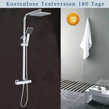 Chrom Duschsystem Duscharmatur Regendusche Messing Komplett
