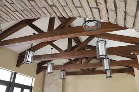 Vaulted ceiling wood beams Exposed Beams Home Cathedral Ceiling With Truss Faux Wood Workshop Vaulted Ceiling Wood Beams Socialthingsclub Home Cathedral Ceiling With Truss Faux Wood Workshop Wood Side Chair