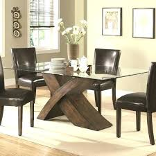 glass top dining tables with wood base small glass top dining table glass dining table with