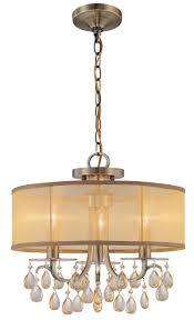 hampton 3 light 14 antique brass mini crystal chandelier or ceiling mount with gold