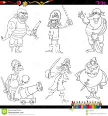 Fantasy Pirates Cartoon Coloring Page Stock Vector - Image: 55435543