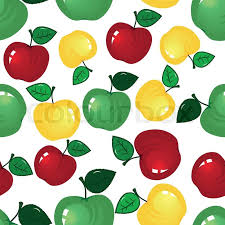 Apple Pattern Enchanting Vector Fruit Icon Apple Seamless Background Fabric Pattern Tile