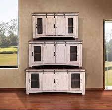 4 of 5 anton white finish 60 barn door tv stand sliding door solid wood
