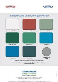 Bluescope Color Chart Product Literature Tata Bluescope Steeltata Bluescope Steel