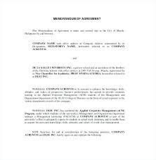Memorandum Of Understanding Template Unique Memorandum Of Agreement Between Two Parties Simple Mou Template For