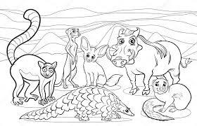 Kleurplaten Dieren Afrika