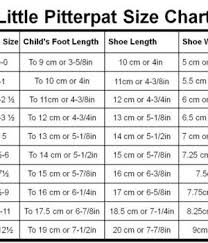 Pitter Pat Shoes Size Chart Little Pitterpat Enlightened Baby