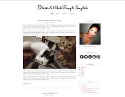 Minimalist Blogger Templates White