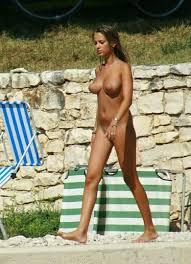 Girls on nudist beach