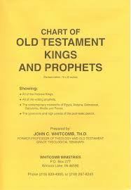 Chart Old Testament Kings And Prophets Paper John C