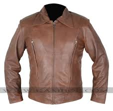 x men wolverine day of future past brown leather jacket