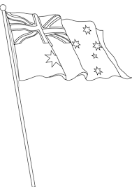 Vlag Van Australië Kleurplaat Gratis Kleurplaten Printen