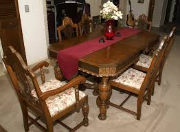 Antique Kitchen Table Sets 1920 S Walnut Dining Room Set Duggspace