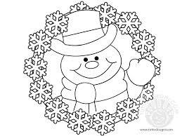 Disegni Inverno Ghirlanda Da Colorare Disegno